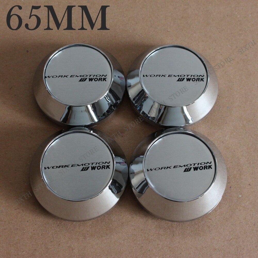 KOM POWER 65mm Wheels Cap WORK Wheel-Covers Cap Working Car 65MM WORK Center Cap Emblem Stickers Hub Cap Work Rims Wheels 4PCS