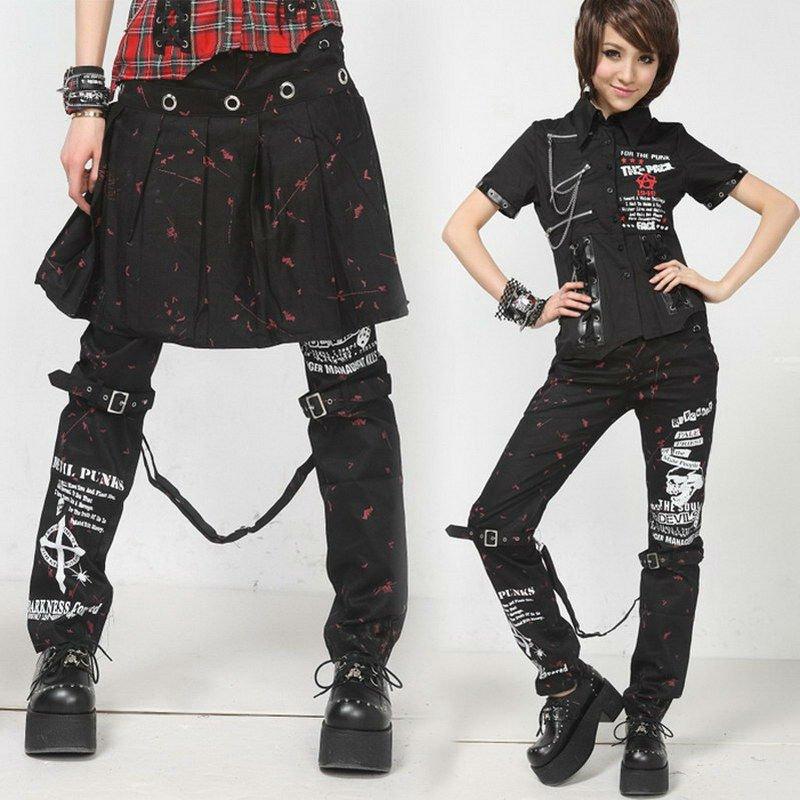 Visual Kei Tight Buckle Trousers Punk PANTS 71197-in Pants