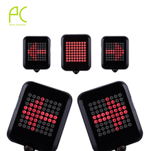 PCycling Bicycle Intelligent Turn Taillight Signal Light Brake Light Projection Lamp 64 LED Infrared Warning Light Accessories tanie tanio BLT160 Sztyca Baterii