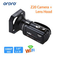 ORDRO HDV Z20 1080P 8MP H.264 WiFi Full HD 3.0 Touch Screen LCD Digital Camera Sensor 16x Audio Video W/ Mic + Lens Hood