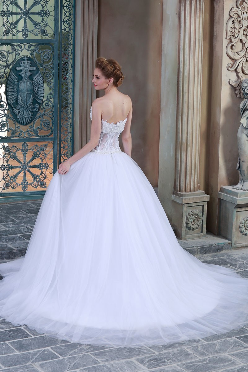 18da89393 HSW9 Pearls Ball Gown Wedding Dresses 2015 Pictures Of Latest Gowns ...