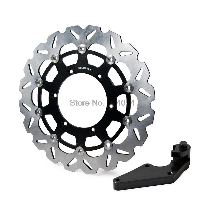 320mm Front Brake Disc Rotor & Bracket For Yamaha YZ125 YZ250 2008-2016 YZ250F 2007-2016 YZ450F 2008 - 2016 2009 2010 2012 2014 scooter 260mm stainless steel front brake disc rotor floating disc adapter bracket for yamaha bws x 125 cygnus 125