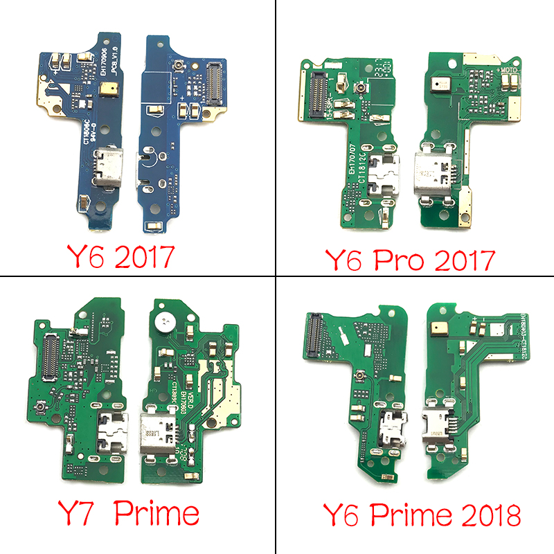 USB Charging Port Micro Dock Connector Flex For Huawei Y3-2 3G 4G Y6 Y7 Prime Y9 2017 2018 P Smart 2019 With Microphone Board