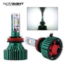 Novsight turbo led h4 headlight fog lights HB3 HB4 h8 h11 led light car h7 led 12v car lamps Auto Headlamp Fog Light Bulb 6500K(China)