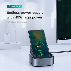 Image 4 - Док станция Baseus для Samsung S10 S9, USB C на HDMI, 3,5 мм