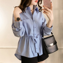 fashion woman blouses 2018 plus size 3XL 4XL clothing female long sleeve shirt women tops and blouses blusa feminina shirt A317(China)