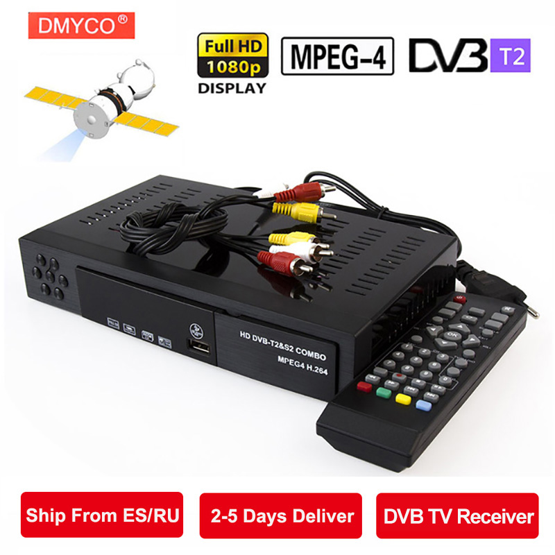 Digital Terrestrial Satellite TV Receiver Combo dvb T2 dvb S2 HD 1080P dvb-t2 dvb-s2 Decoder H.264/MPEG-4 TV Box Support bisskey