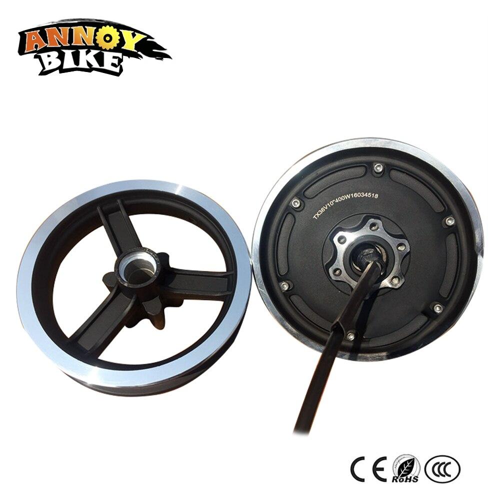 10 дюймов безредукторный скоростной концентратор моторное колесо с передним колесом 36V48V мотор для электрического скутера велосипед компле...