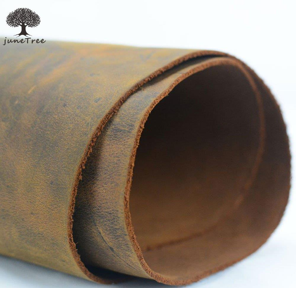 Passion Junetree cowhide cow leather dark brown thick genuine leather about 2.0 mm cowhide vintage (about 50x 22cm)