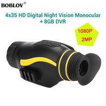 BOBLOV 4X35 Digital Night Vision BINOCULAR IRLED Hunting Camorder Zoom Device nighthunting Nightvision