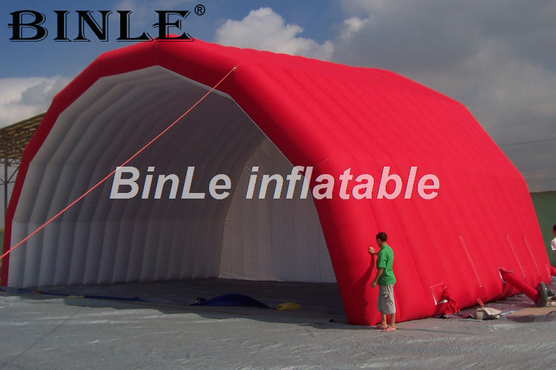 Attractive red inflatable stage roof inflatable stage tent outdoor marquee shelter for band performance the red tent