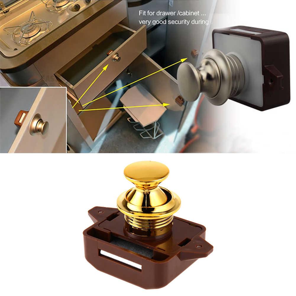 Цинковый сплав большая нажимная кнопка блокировки замок для шкафа дверная ручка для Кампера фургон-дом на колесах RV ящик шкафа нажимная защелка