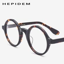 Acetate Optical Eyeglasses Frame Men New Retro Vintage Round Eye Glasses Women Spectacles Man Woman Nerd Eyewear Zolman