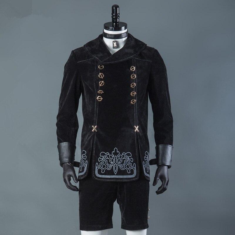 Горячие игры НИР автоматов 9 S костюмы для косплея для мужчин Необычные наряды вечерние пальто YoRHa № 9 тип полный набор Хэллоуина