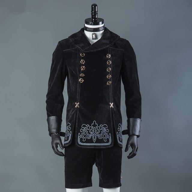 Мужской костюм для косплея NieR Automata 9S, вечерние наряды, пальто, полный комплект на Хэллоуин, 9 типов