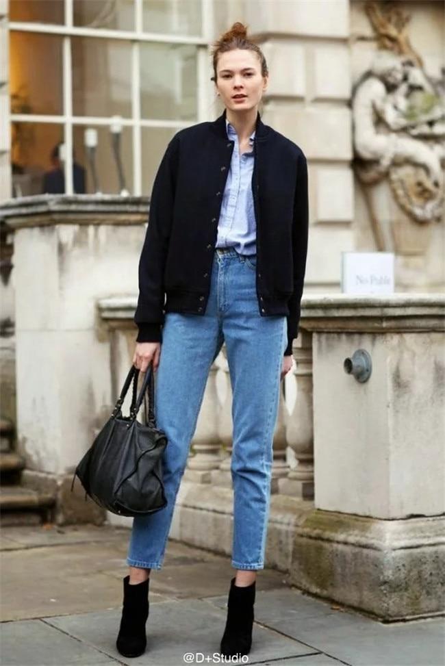 19 korean style women pencil denim pants high waist jeans woman casual vintage jeans boyfriend mom jeans light blue streetwear 11