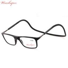 Alemanha importou WEARKAPER Ajustável Magnética Pendurado No Pescoço Óculos  Dobráveis Frente Contato com Sílica gel Templo tr90 . c0db11e99e