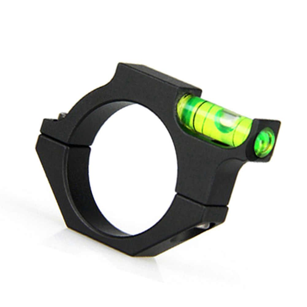 金属スピリットバブルレベル 25.4 ミリメートルレールライフルチューブ銃サイトスコープリングマウントホルダータクティカル光学レーザーサイト