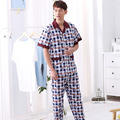 New Spring and Summer 2016 Men's Short Sleeve Pajamas Leisure Household Manufacturers Selling Undertakes