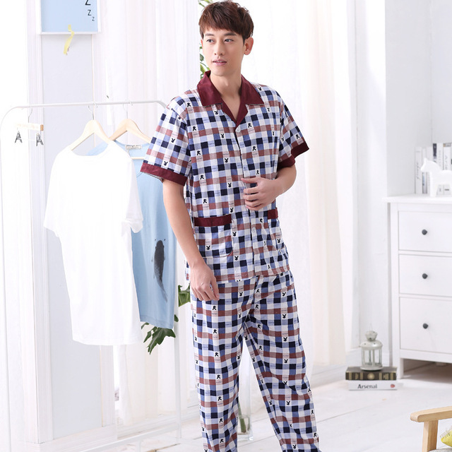 Nueva Primavera y el Verano 2016 de Los Hombres de Manga Corta Pijama de Ocio Hogar Fabricantes que Venden Se Compromete