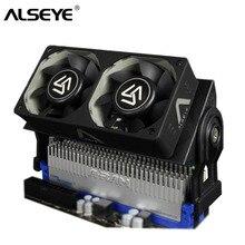 ALSEYE RAM Kühler PC Fan DDR Speicher Kühler mit Dual 60mm Lüfter PWM 1500-4000 RPM Kühler für DDR2/3/4