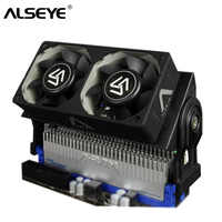 ALSEYE RAM Cooler PC Fan DDR Memory Cooler with Dual 60mm Fan PWM 1500-4000RPM Cooler for DDR2/3/4