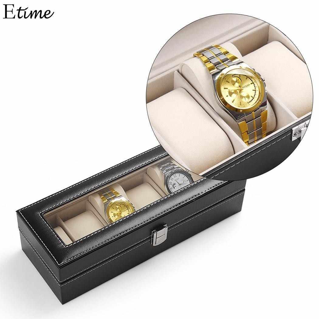 Fanala 5/6 сетки часы из искусственной кожи часы в коробке организатор часы коробки, Футляр Дисплей Коробки заводчик часов Boite Montre коробка для демонстрации 2018