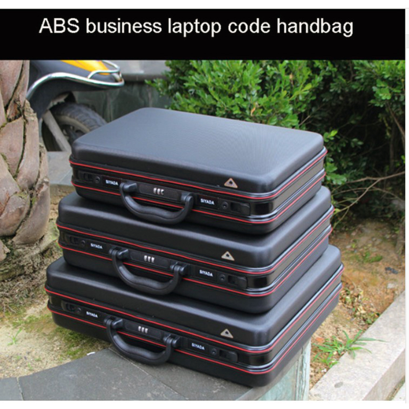 aluminium abs tool case toolbox Aluminum frame Business laptop bag advisory suitcase Man portable suitcase briefcase handbag box in Tool Cases from Tools