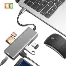 Docking station portátil Leitor de Cartão All in One USB C para HDMI DP Adaptador para MacBookType C HUB