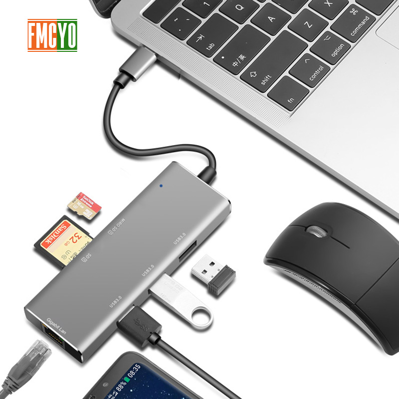 Laptop docking station All in One USB C to HDMI Card Reader  PD Adapter for MacBookType C HUB-in Laptop Docking Stations from Computer & Office