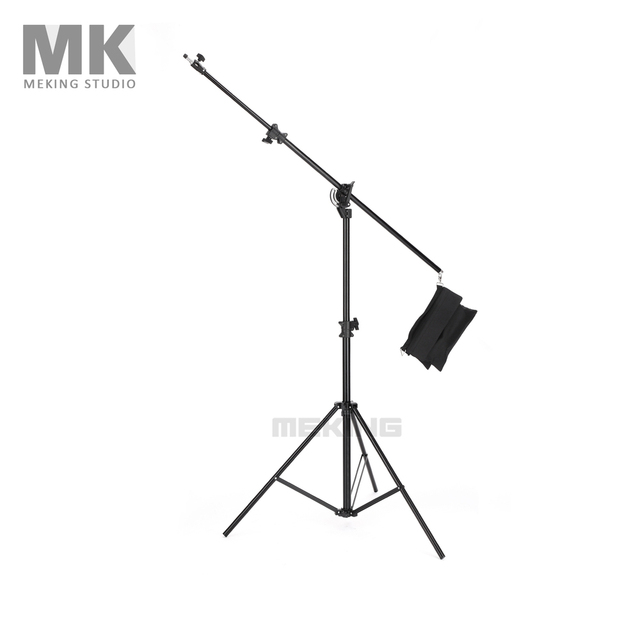 Meking Lighting 395cm 13'' M-1 Light Boom stand photo studio support system with Sand bag for photography Holder Accessories