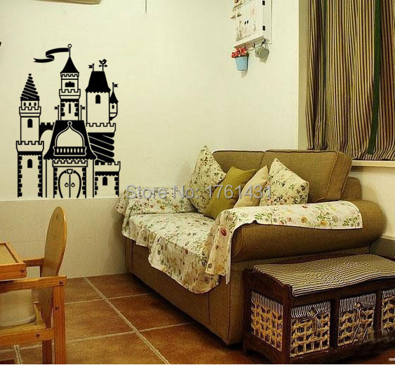Decal Princess wall sticker Castle vinyl home decoration wall art ...