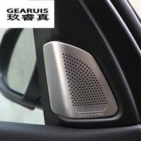 Car Styling Stainless Steel Stickers Car Audio Speaker Car Door Loudspeaker Trim Cover For BMW X5