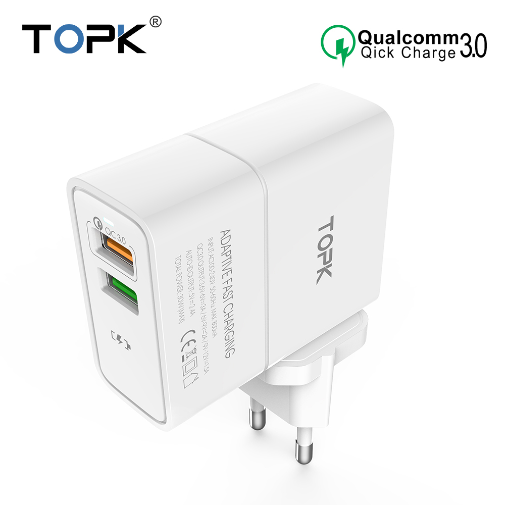 TOPK Quick Charge 3.0 Fast USB Charger E