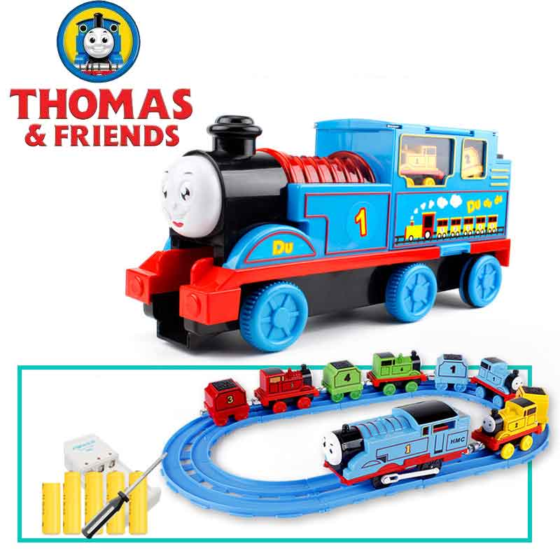 Thomas and friends car toys big set track children small locomotive electric inertia alloy car 4