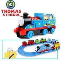 Паровозик Томас и его друзья, игрушки, большой набор, детский трек, маленький локомотив, Электрический инерционный легкосплавный автомобил...
