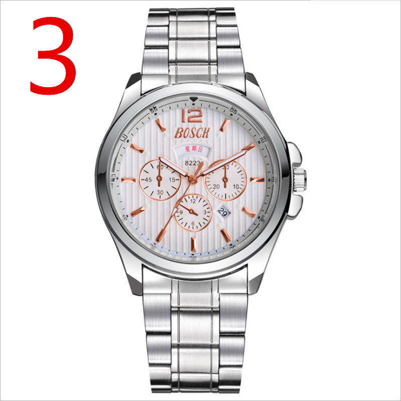 Mens Watches Top Brand Luxury Sport Quartz Watch Men Business Stainless Steel Silicone Waterproof Wristwatch