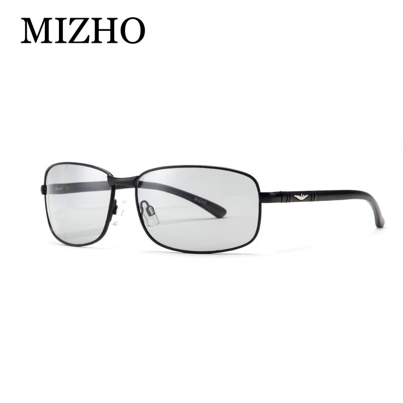 3edb75d0233dc MIZHO HD All-weather Retângulo de Luz Neve Photochromic Óculos De Sol Dos  Homens Polarized Óculos de Visão Noturna Motorista Óculos Para Homens ...