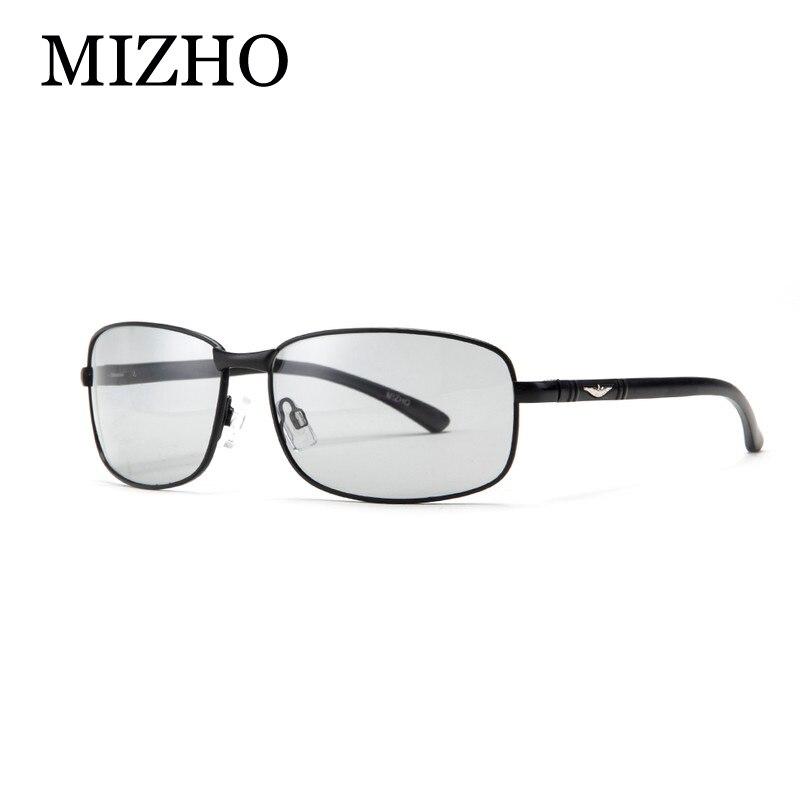 MIZHO HD Tout-temps La Lumière De La Neige Photochromiques lunettes de  Soleil Hommes Polarisé Nuit Vision Rectangle Lunettes de Pilote Pour Hommes  ... a2943b232960
