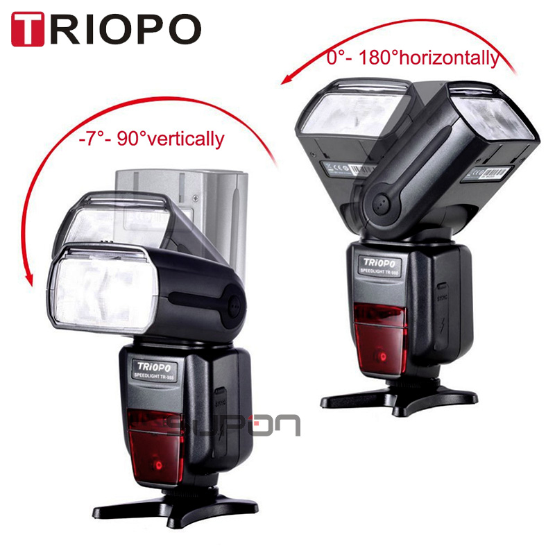 TRIOPO TR-988 Professional Speedlite TTL Camera Flash With High Speed Sync For Canon And Nikon Digital SLR Camera TR988+Diffuser