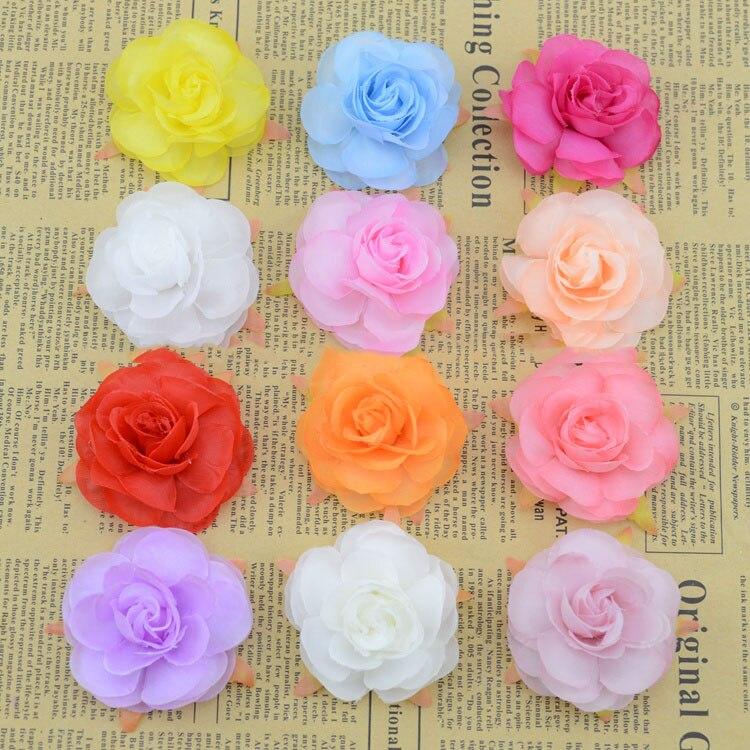 Artificial Flowers Candy Colored Silk Tea Rose Silk Flower Good