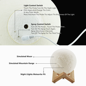 Image 5 - Siêu Âm Thanh Máy Phun Sương Tạo Ẩm Khuếch Tán Tinh Dầu Thơm Phòng 880 Ml 3D Đèn Trung Thu Ánh Sáng Với USB Sương Lọc