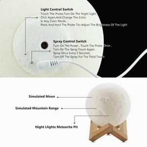 Image 5 - Ultradźwiękowy olejek eteryczny do nawilżacza dyfuzor do aromaterapii 880ml 3D lampa księżycowa światło z USB oczyszczacz rozpylający mgiełkę