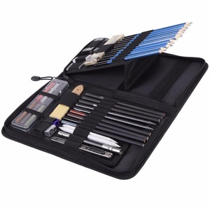 Image 3 - 48 개/몫 전문 스케치 드로잉 연필 키트 캐리 백 아트 페인팅 도구 세트 화가 학생을위한 블랙 아트 용품