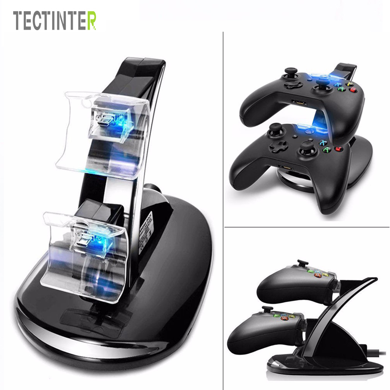 For Xbox One Wireless Controller Charger Dock Station Base Charge LED USB Fast Charging Stand Dock Dual For Xbox One Gamepad