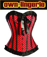 womens polka dots sexy corset,5colors for choose,size s-2xl