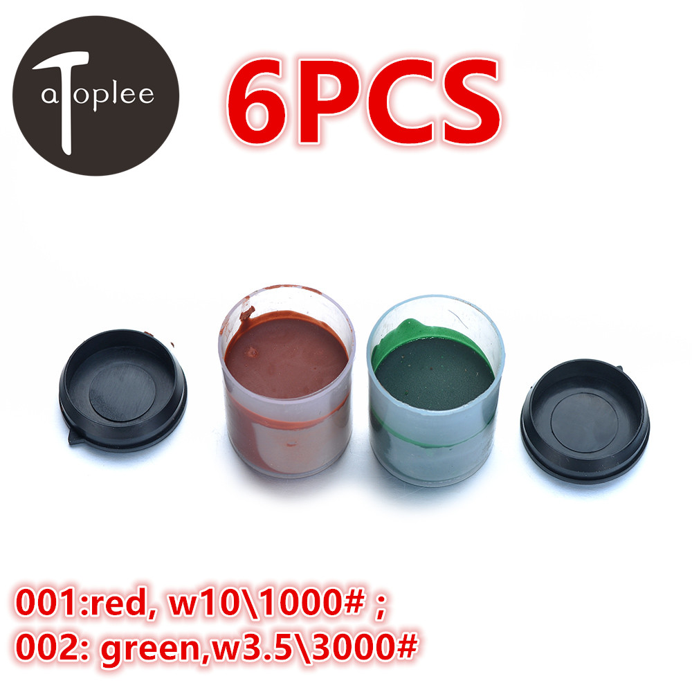 6pcs w10\1000# w3.5\3000# Grinding Polishing Paste Chromium Oxide Polishing Paste Polishing Wool Jewellery Steel Tools