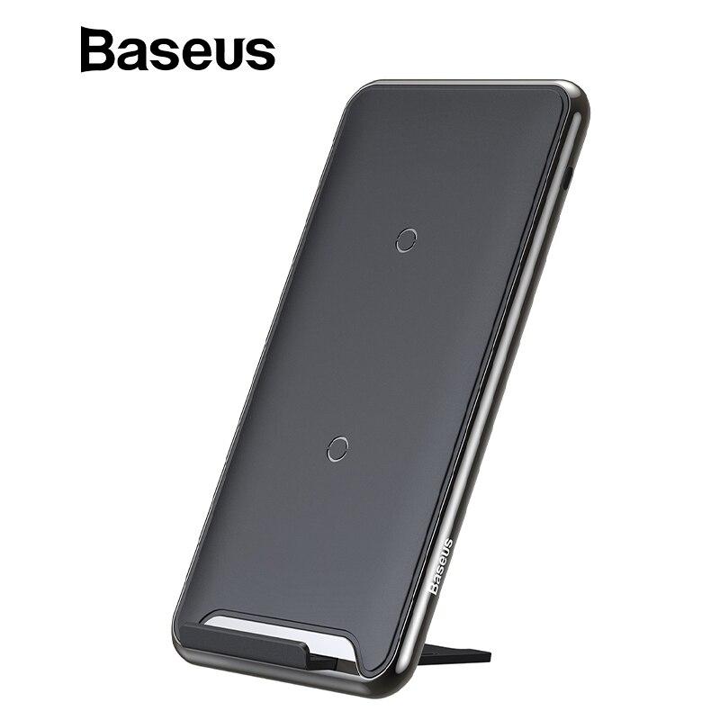 Baseus 10 W 3 bobinas cargador inalámbrico para iPhone X/XS Max XR Samsung S9 Note9 Xiaomi Oppo multifunción almohadilla de carga inalámbrica Qi