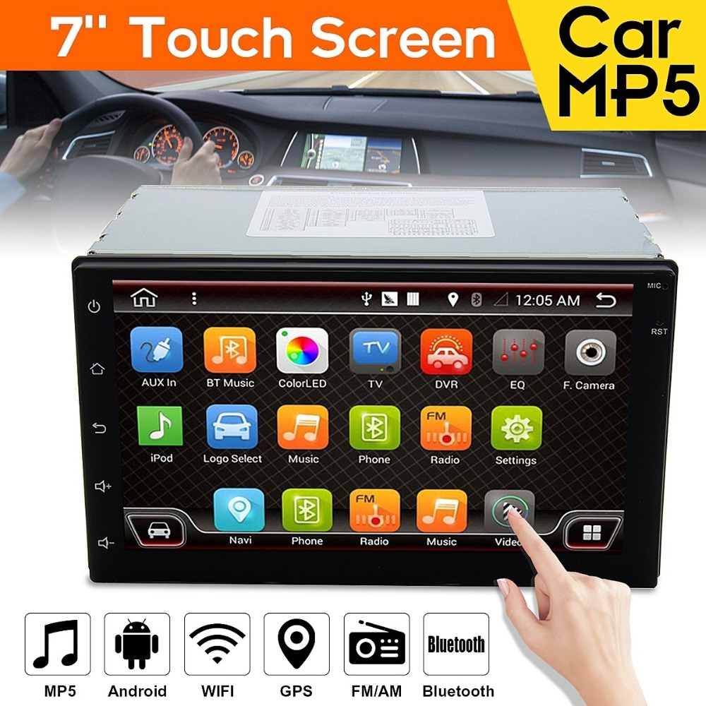 Vehemo 2 Din 7080B Car MP5 Player 7 Inch Touch Screen Auto Car MP4 Video Player Radio Remote Control Support Rear View Camera мобильный телефон texet tm 404 золотистый 2 8