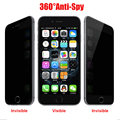 Wholesale 9H Anti-Spy Privacy Protector Tempered Glass Film Anty spy screen For Apple iPhone 6 6S plus 5.5 inch  glass